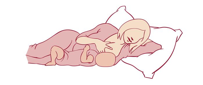 خوابیده به پهلو